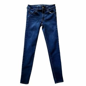 American Eagle Outfitters Super Stretch Mid Rise Dark Wash Jeggings